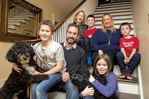 Dad: Paul Crainich, 47, hospitalist at Central Vermont Medical Center  Mom: Janet Kirwan, 48, intervention cardiologist at University of Vermont Medical Center  Nanny: Susan Brean, 44  Sons: Hugo,12,  Oscar, 9, Oliver, 8  Daughter: Aoife, 11