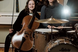 Ann Mindell plays drums in the Nancy Druids, the band she formed with her husband, Sean Toohey. Their daughter, Ariel, is an accomplished cellist who plays with Vermont Youth Strings, part of the Vermont Youth Orchestra Association.