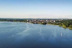 The Burlington skyline from Lake Champlain