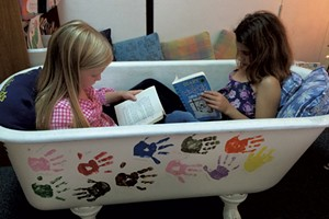 A bathtub for independent work in Katie LeFrancois' Richmond Elementary School classroom