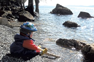 Heather's son, Jesse, at Rock Point in 2010