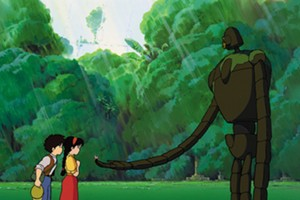 Pazu and Sheeta meet  a robot in 'Castle in the Sky'