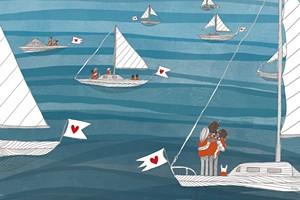 A detail from Elisa Järnefelt's cover illustration
