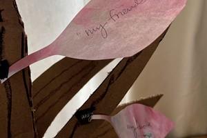 Leaves on the gratitude tree