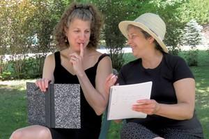 Gail Marlene Schwartz (left) and Lucie Gagnon