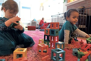 Children playing at Aubrey's House