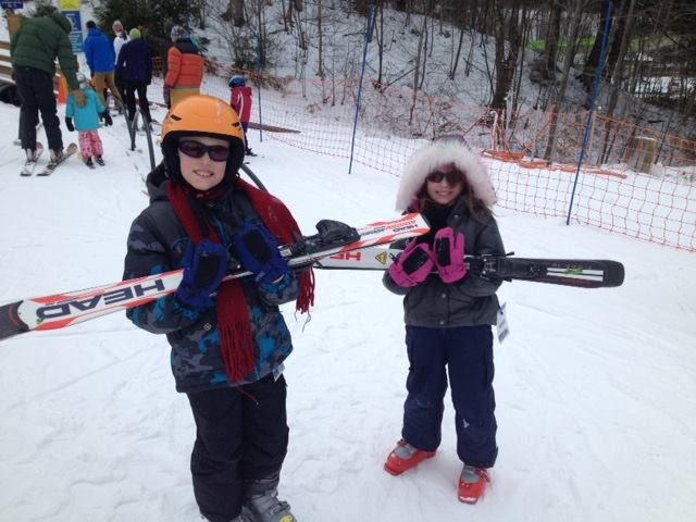 Chase and Giada Willet of Colchester learned to ski last season at Smugglers' Notch - COURTESY OF VERMONT GOVERNOR'S COUNCIL ON PHYSICAL FITNESS AND SPORTS