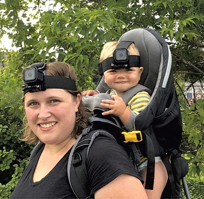 Study participant Megan Mitchell with son Jameson - COURTESY OF GINA MIREAULT