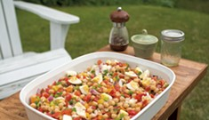 Italian Garbanzo Bean Salad: An Easy, Colorful Summer Dish