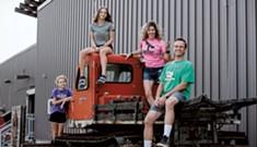 Family Portrait: Hannah, David, Adah and Senyah