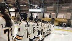 Cheering on UVM Women's Hockey Team