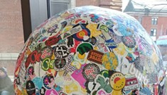 Fletcher Free Library Displays World's Largest Ball of Stickers