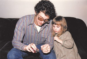 Alison with her dad in the early '80s.