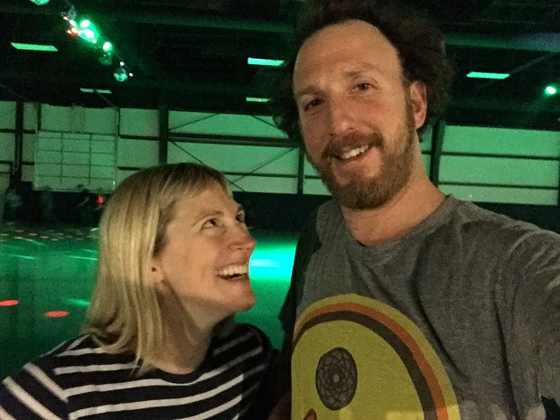 The happy couple at Skateland. Read more about their date in our February issue! - ANGELA ARSENAULT