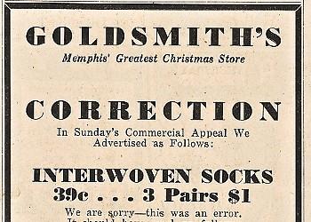 Goldsmith's — Socks for Sale!