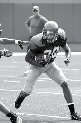 #22: sophomore wide receiver Duke Calhoun - LARRY KUZNIEWSKI