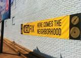 CHRIS SHAW - A banner on a Highland business teases MEMFix