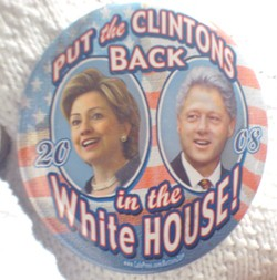 A button being sported by Clinton backers - JB