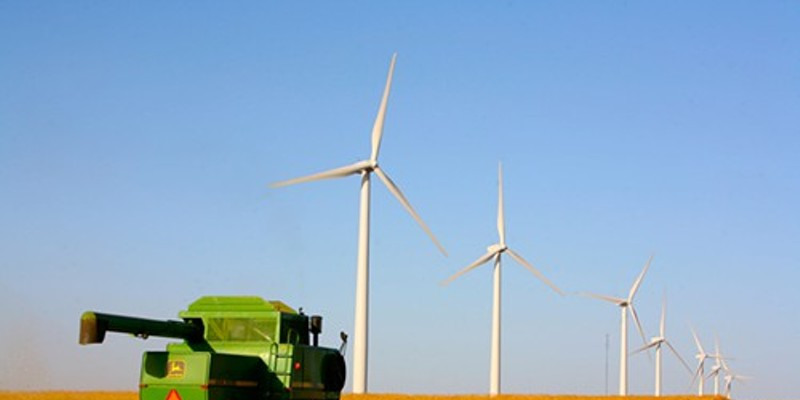 A Clean Line wind farm in Oklahoma