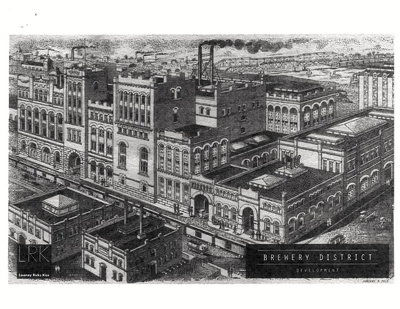 A historic view of the Tennessee Brewery district.
