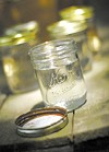 A jar for homemade moonshine, available at the Winery & Brew Shoppe