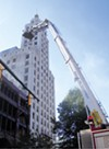 A ladder truck helped extinguish flames at the Lowenstein building in 2006.