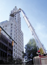 BIANCA PHILLIPS - A ladder truck helped extinguish flames at the Lowenstein building in 2006.