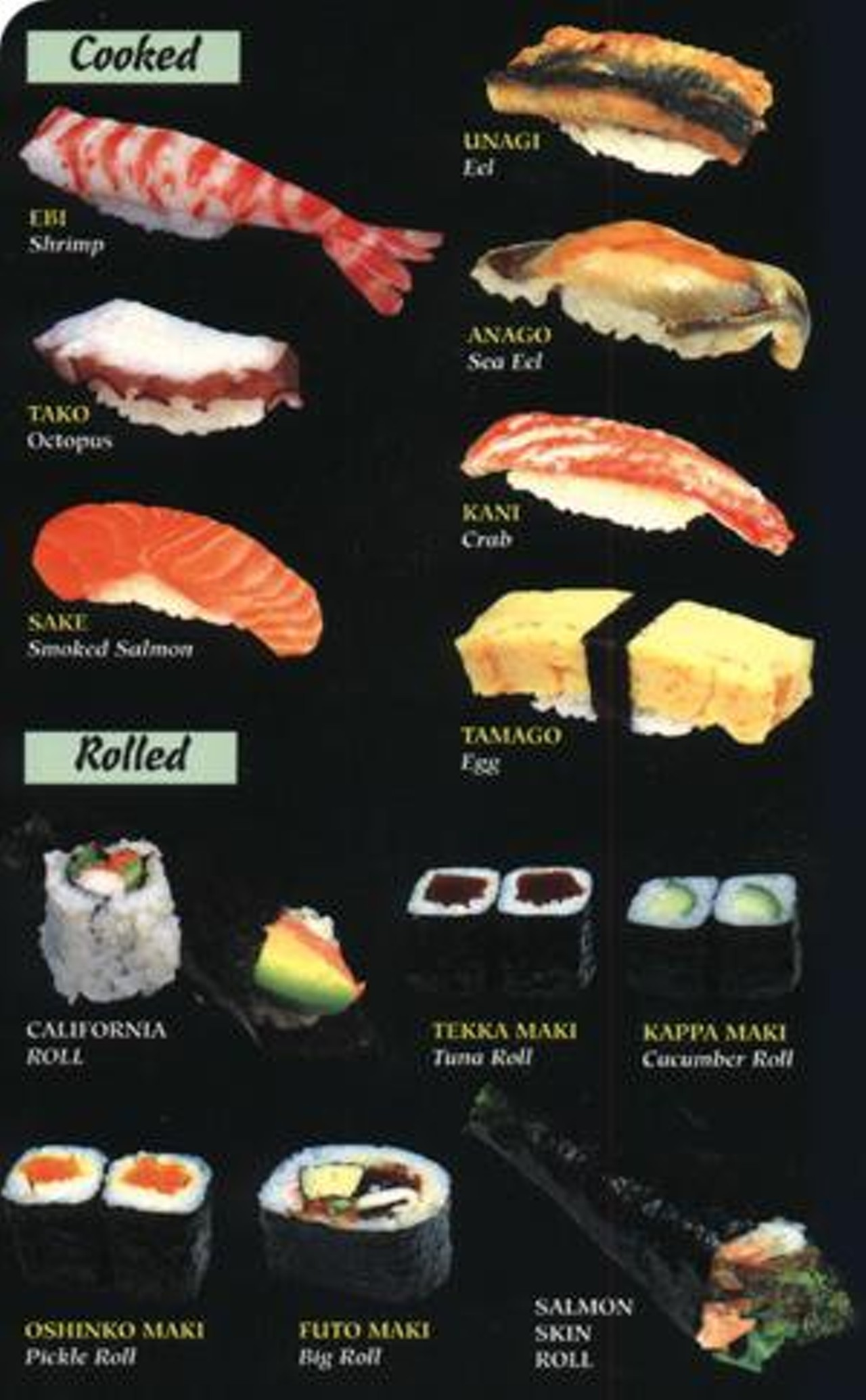 A memphis sushi contest food wine memphis news and for Sushi fish names