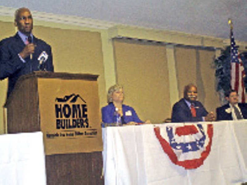 A rare group sighting: the top four mayoral candidates in Cordova - JACKSON BAKER