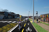 """A rendering of the proposed """"green lane"""" for Broad Avenue."""