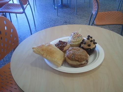 A sampling of YoLo Bakes items, including a nutella and banana poptart