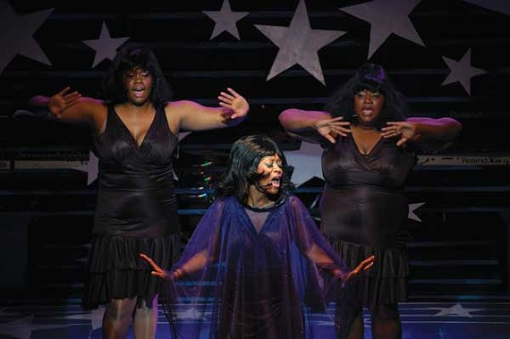 A scene from Dreamgirls at the Hattiloo Theater