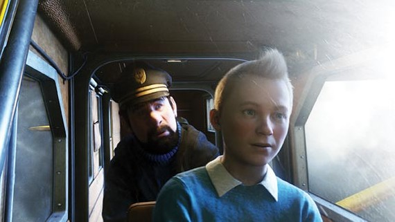 A scene from The Adventures of Tintin