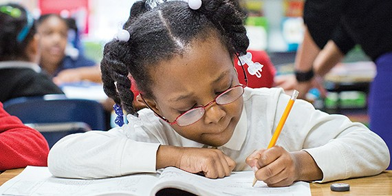 A student at iZone school Cherokee Elementary