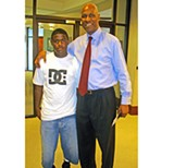 JB - A triumphant Mayor Herenton posed with grandson Adrian Herenton this week.