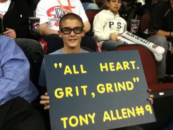 A young Griz fan, representing in New Jersey