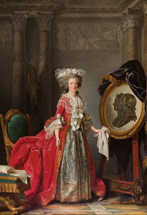 Adelaide Labille-Guiard, Portrait of Madame Adelaide, about 1787.