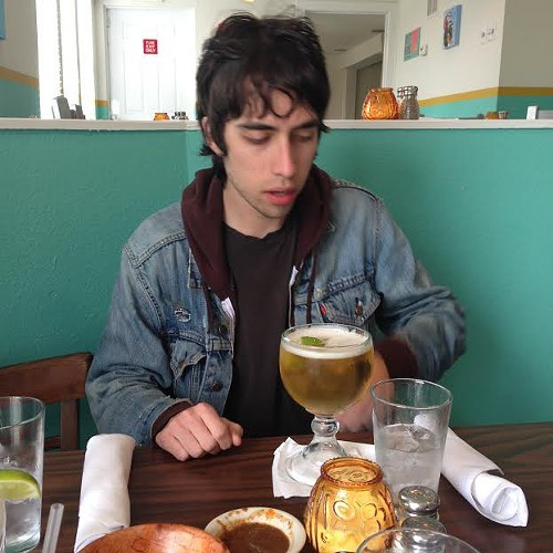 Alec from Ex-Cult enjoying happy hour.