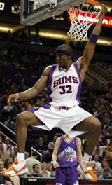 Amare Stoudamire kicked bear butt.
