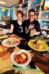 Amy and Julio Zuniga of Three Angels Diner - JUSTIN FOX BURKS