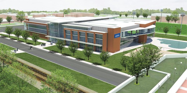 An artist's rendering of the U of M's planned recreational facility