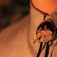 30 Photos of Elvis Fans and Their Elvis Week Shrines An Elvis Presley bolo tie.