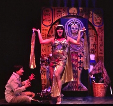Ann Marie Hall (seated) and Mark Chambers in The Mystery of Irma Vep