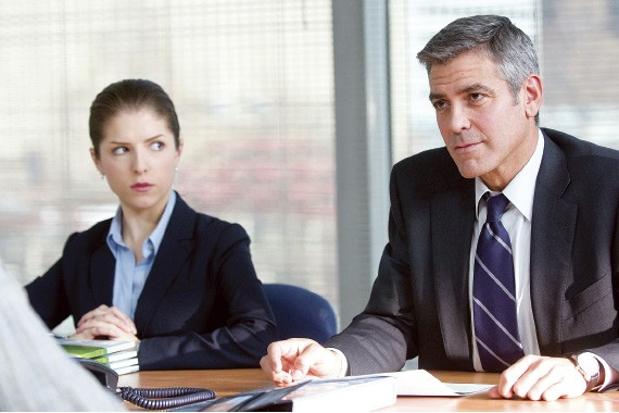 Anna Kendrick and George Clooney