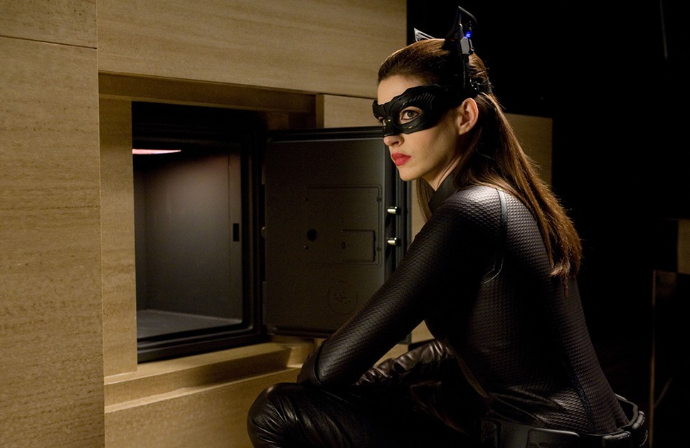 Anne Hathaway as cat burglar Selina Kyle: More, please.