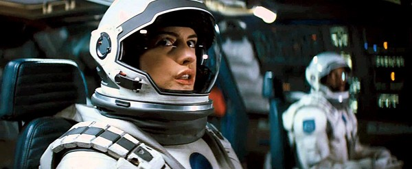 Anne Hathaway in Interstellar