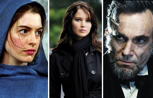 Anne Hathaway, Jennifer Lawrence, and Daniel Day-Lewis