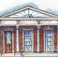 Artist rendering for the first Planter's Row II house
