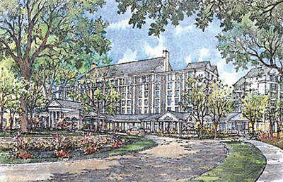 Artist rendering of the Guest House hotel