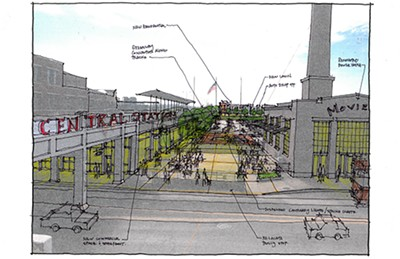 Artist's rendering of Central Station improvements - HENRY TURLEY CO.